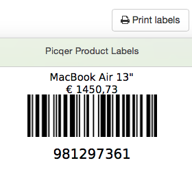 Printen van productlabels