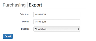 Export purchase orders to Excel